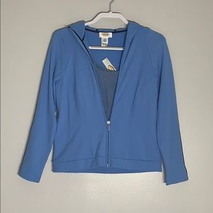 NWT Talbots small petite Baby Blue Track Suit Set